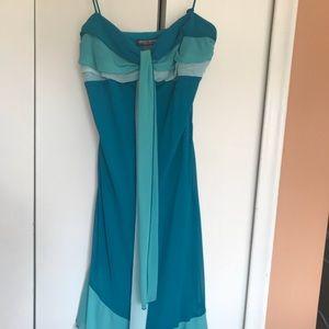 Skinny strap ombré dress